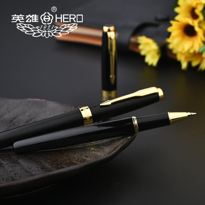 英雄寶珠筆簽名簽字筆商務金屬男士高檔送 裝中性筆定製刻字