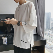 Summer 2019 Easy 7-minute-sleeve T-shirt Short-sleeved Korean version Half-sleeved T-shirt for Teenagers and Students