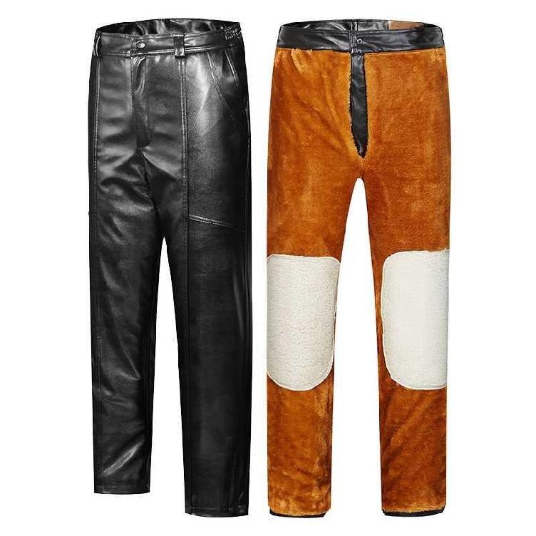 Кожаные брюки Артикул 608369317778