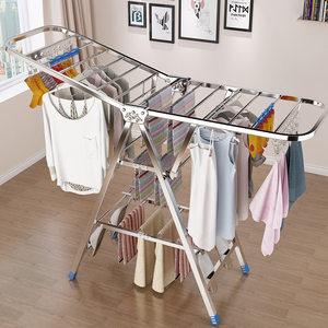 不锈钢落地折叠卧室内家用晒晾衣架