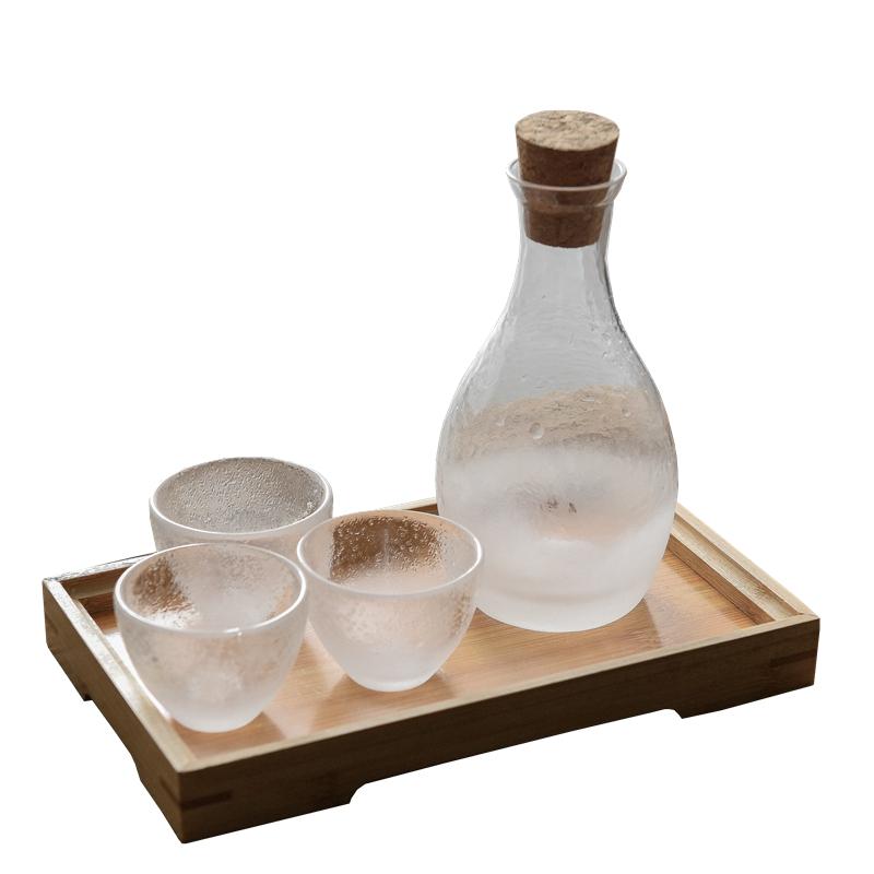 云雾玻璃小酒杯白酒杯酒壶酒盅小号50ml一两一口杯烈酒套装家用