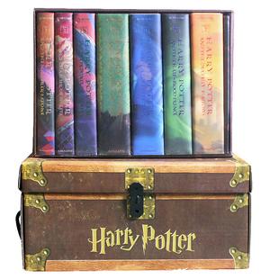 进口jk罗琳Harry 7全集精装 预售 哈利波特英文原版 豪华纪念版 魔法石咒语图书 收藏版 Boxset典藏版 内附神秘礼物 小说1 老版 Potter
