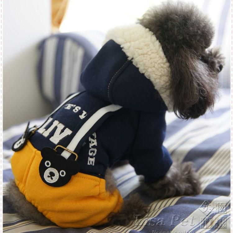 朱古力熊宠物衣服泰迪贵宾比熊幼犬小狗狗衣服饰四脚衣秋装秋冬