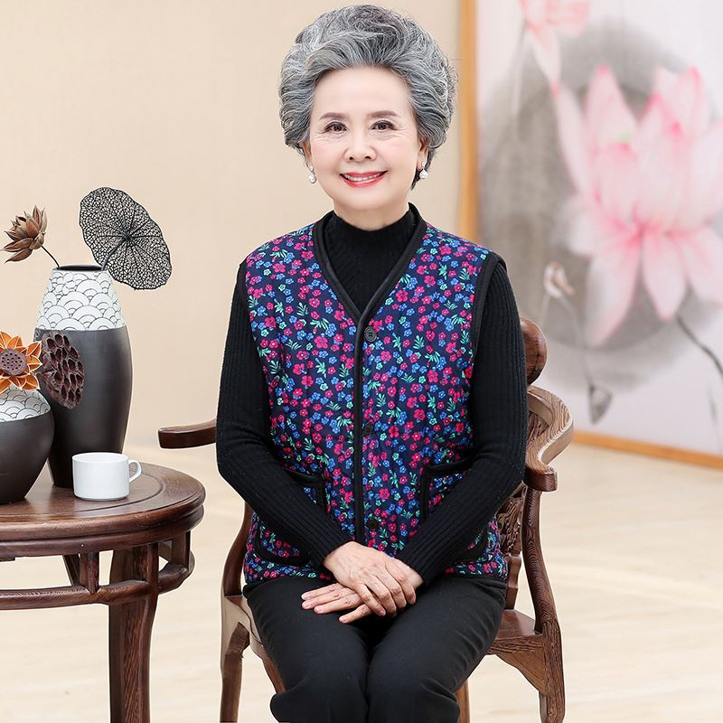 Mothers clothes workers fashionable waistcoat womans thickened mothers cotton padded jacket sleeve less inside and outside wear to work, slim fitting, home grown-up