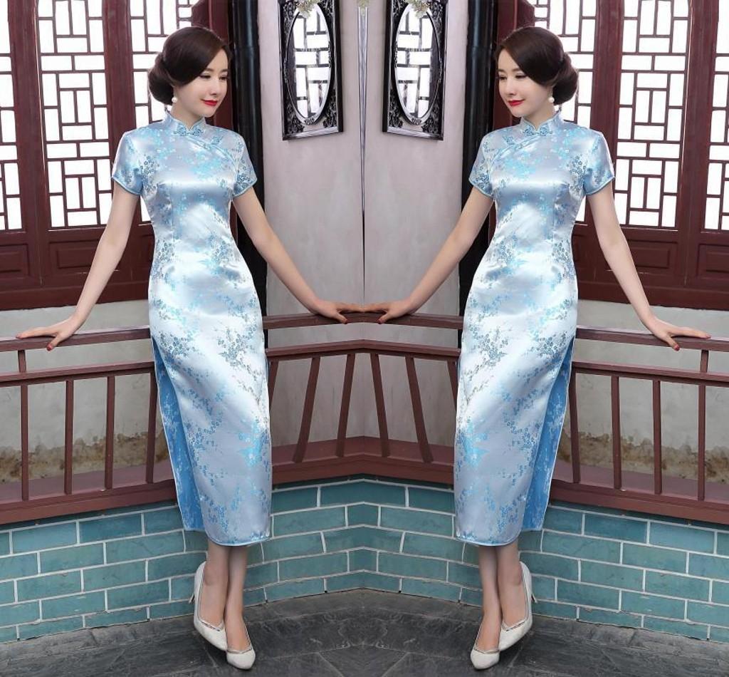 旗袍连衣裙女2020夏季新款修身改良日常中长款年轻款少女复古旗袍