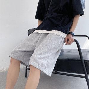 休闲短裤男宽松直筒原宿港风ins百搭韩版潮流纯色中裤运动五分裤