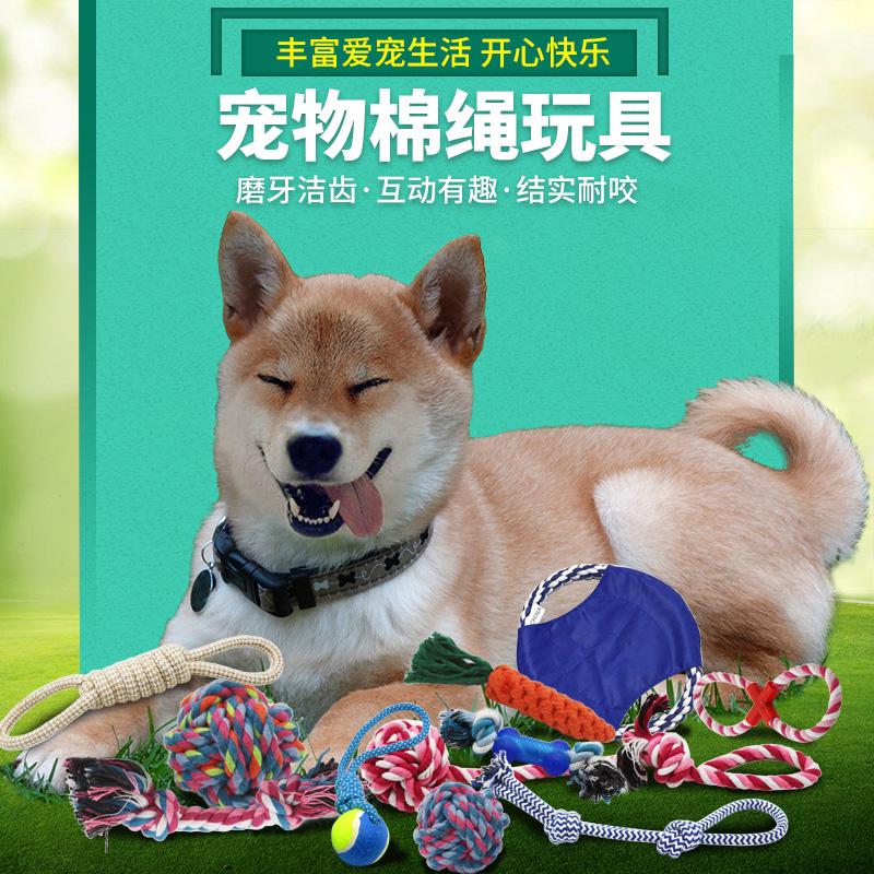 磨牙棉绳狗狗玩具耐咬宠物结绳狗玩具用品金毛咬绳幼犬泰迪玩具