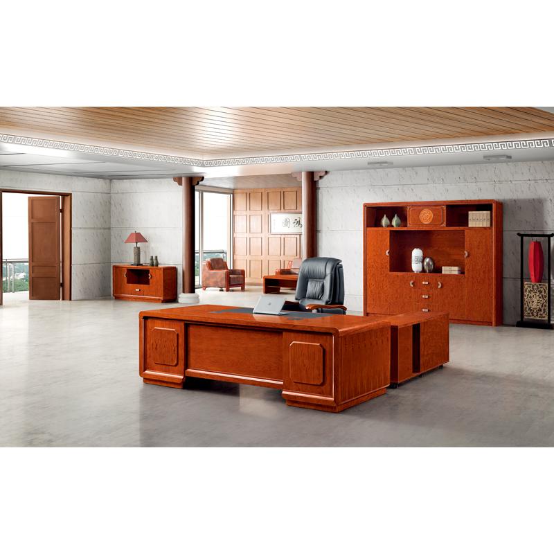 経典の花梨の実の木の皮の大きいクラスの台の新しい中国式の事務机の社長のテーブルの簡単な家具は郵送します。