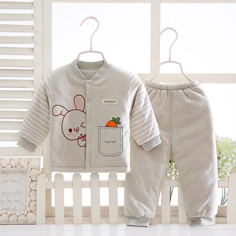婴儿棉袄春秋薄婴儿衣服儿童棉衣套装中厚男女宝宝外出保暖棉服图片