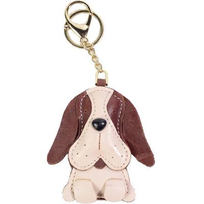 莎苜创意 真皮狗狗钥匙扣 手工牛皮动物生肖包包挂件小礼物