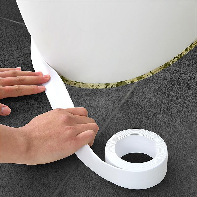 日本SP SAUCE马桶底座美缝贴洗手盆边缘防水防霉胶带代替玻璃胶