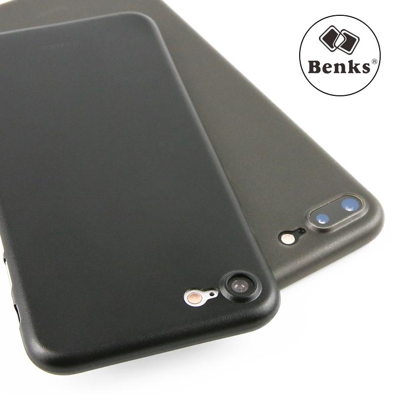 benks蘋果七plus手機殼超薄iphone7磨砂保護套全包7p防摔透明殼硬