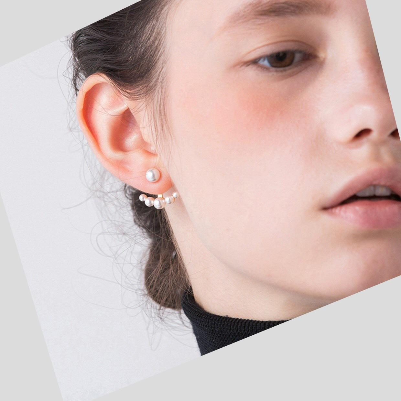 Vrew geometric world   adjustable Pearl Earrings Rihanna American elegant Earrings Ear jacket