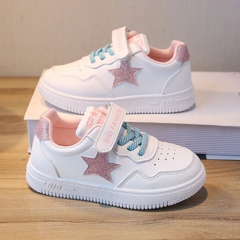 3-year-old girls shoes sports shoes spring 2021 new 4 fashionable boys shoes casual single shoes 5 childrens small white shoes