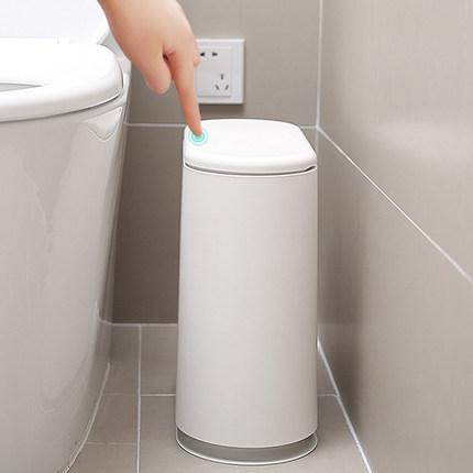 日本按压式垃圾桶家用客厅卧室厕所脚踏垃圾桶卫生间有盖纸篓