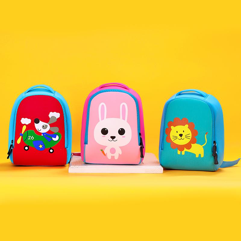 童畅男女童幼儿园书包 卡通潜水料儿童小书包1-3-4岁可爱双肩背包
