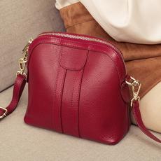 包包女2020新款质感真皮迷你贝壳包女百搭韩版时尚单肩斜挎包小包