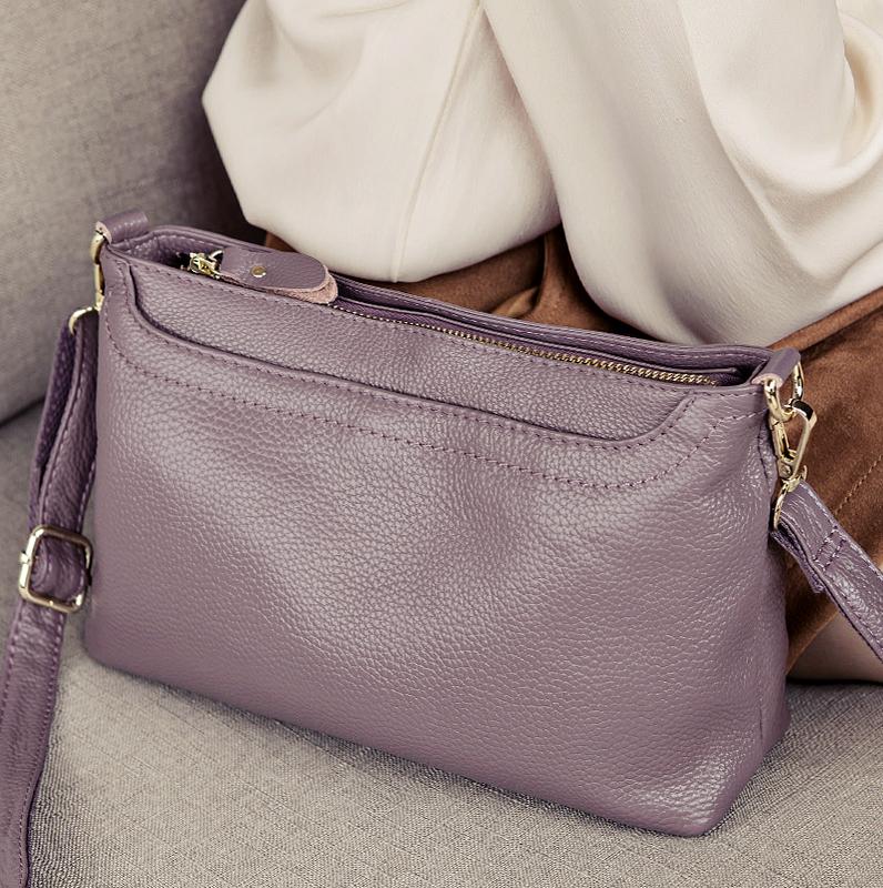 手包女手拿包2020新款潮时尚韩版真皮单肩斜挎包女小包软皮斜跨包图片