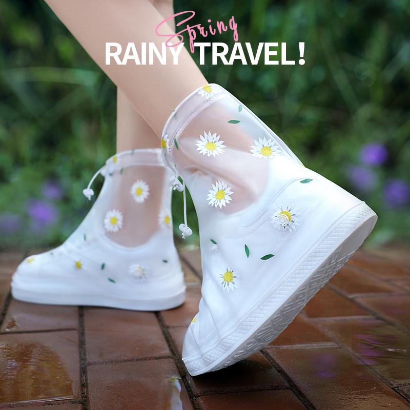 雨鞋女加厚耐磨防滑雨鞋套学生时尚防水套透明硅胶水鞋儿童雨靴套