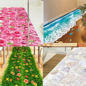 3D立体地贴瓷砖卫生间地面贴画浴室地板自粘防水贴纸装饰墙贴壁纸