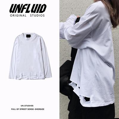 新款潮流宽松纯色简约长袖T恤打底上衣A412-CX1057-P45 限价58