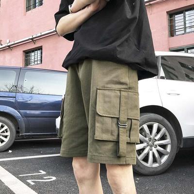 工装短裤夏季潮流宽松休闲百搭五分裤潮A412-KZ81948-P55 限价65