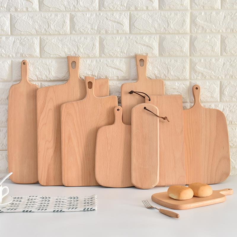 长方形木质托盘实木面包托盘切水果板点心木盘西餐牛排披萨托盘木