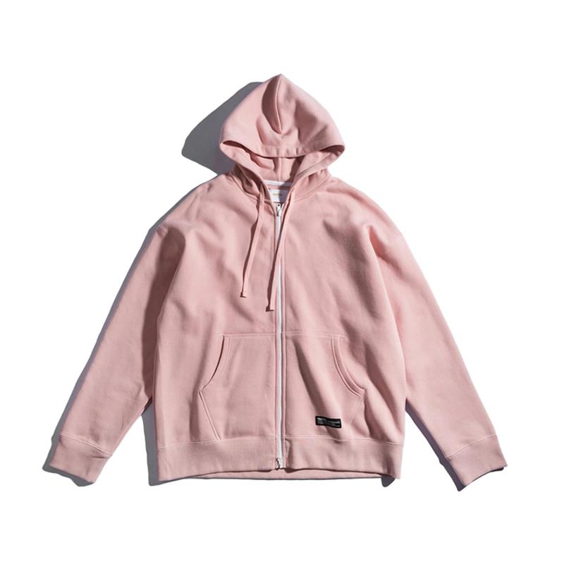 周杰伦明星同款 PH 纯色纯棉重磅400g加绒拉链卫衣冬季男女装外套