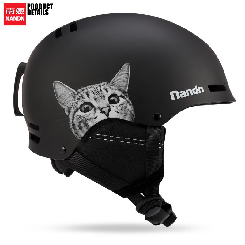 南恩NANDN19/20新款滑雪头盔单双板滑雪装备护具男女保暖防撞雪盔