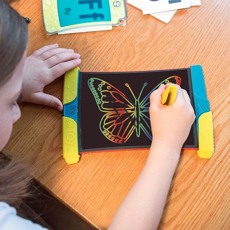 美国boogie彩色画板智能小黑板儿童手写板绘画液晶屏幕彩虹手写板,可领取5元天猫优惠券