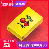 黑鱼充电宝10000毫安大容量超薄便携网红樱桃苹果安卓移动电源潮