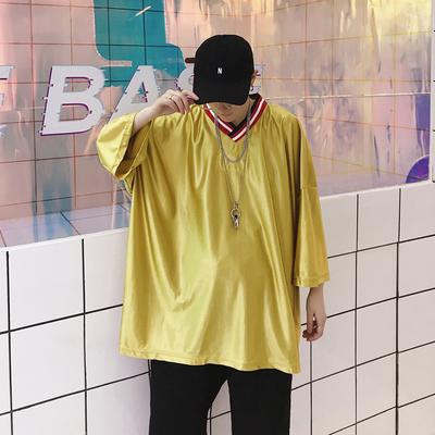 国潮街头嘻哈潮流BF风情侣个性宽松短袖T恤 T108 P35(不低于45)