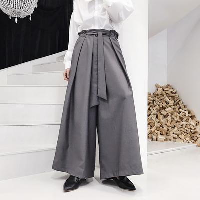 小众设计师气质显瘦显高chic阔腿西裤哈伦裤K657 P80(不低于90)
