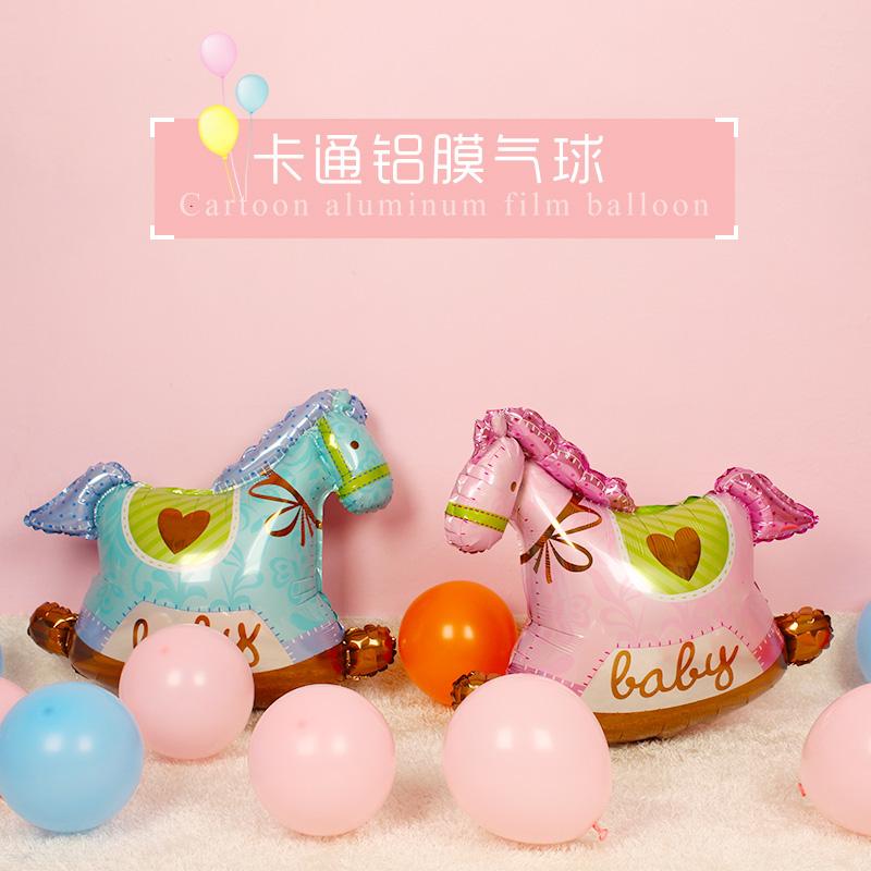 宝宝卡通飞马铝膜铝箔气球儿童生日周岁个性装饰婚庆布置气球,可领取3元天猫优惠券