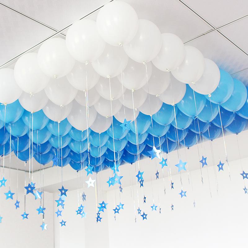 哑光气球吊坠雨丝气球套餐儿童成人生日布置用品烂漫主题装饰挂饰,可领取3元天猫优惠券