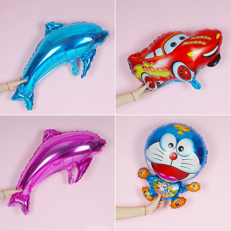 宝宝海豚铝膜铝箔气球结婚婚礼会场儿童生日派对婚房布置装饰用品,可领取3元天猫优惠券