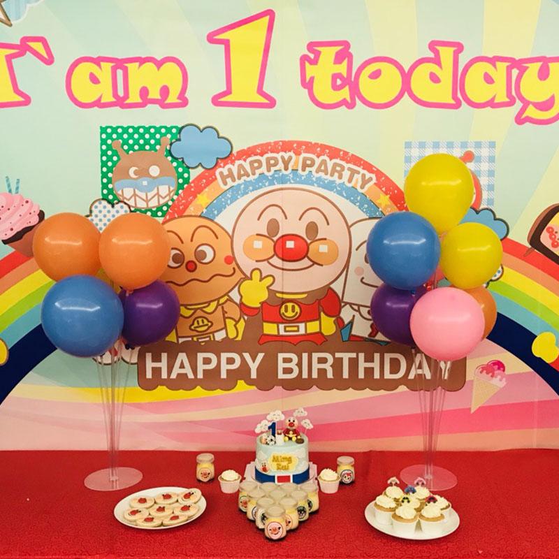 生日餐桌装饰气球桌飘气球支架透明PVC立柱拖杆生日派对布置立柱,可领取3元天猫优惠券