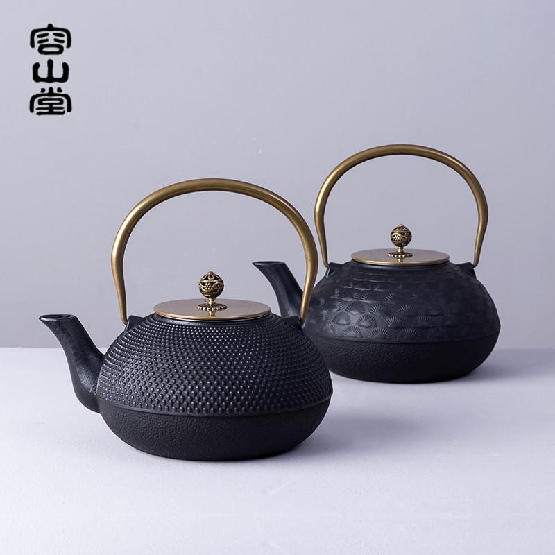 容山堂苏韵 大号生铁壶 铸铁茶壶烧水壶煮茶纯铜壶盖礼品新年春节(用148元券)