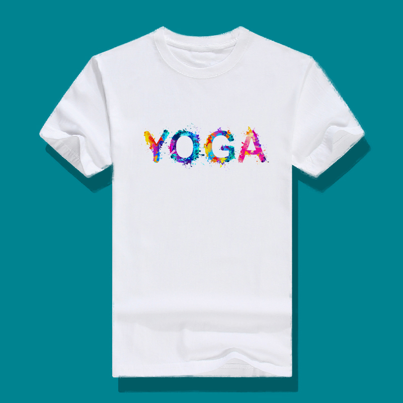 Daily special yoga T-shirt round neck Casual Short Sleeve om Yoga Top print logo Yoga T-shirt sports vest