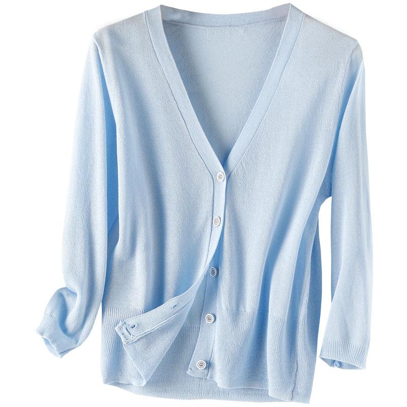 防晒衫超薄冰丝外搭短款针织开衫女外套披肩夏季空调衫配吊带裙子
