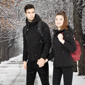 领60元券购买HIGHROCK天石户外冬季连帽短款鹅绒羽绒服轻薄外套保暖男女情侣款