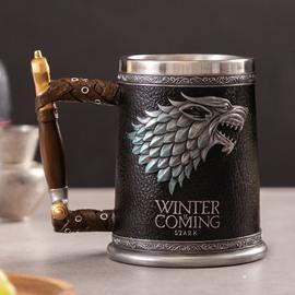 创意水杯冰与火之歌权利的游戏马克杯个性啤酒杯不锈钢威士忌杯子图片