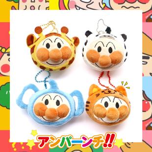 日本麪包超人掛件可愛長頸鹿老虎大象毛絨書包掛飾少女心鑰匙扣萌