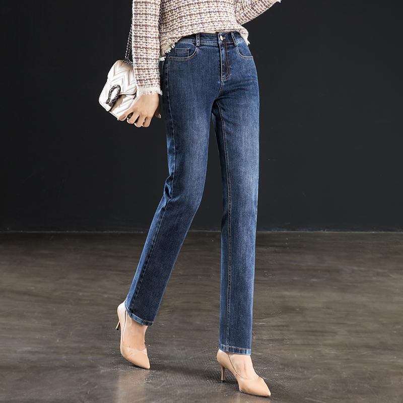雅思诚高腰牛仔裤女直筒长裤宽松2020夏季新款薄款女裤显瘦裤子