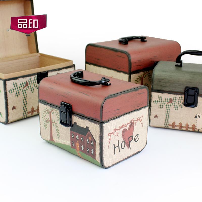 礼品盒长方形提箱创意田园母亲节鲜花包装盒圣诞情人节生日礼物盒