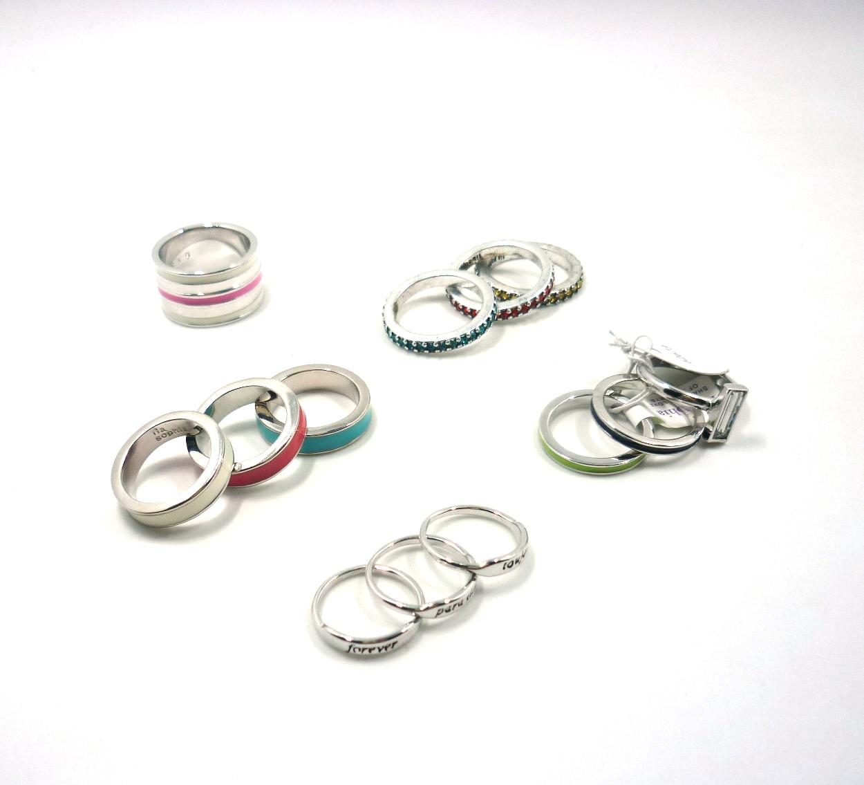 American big brand LIA Sophia ring ring high-grade product set Rhinestone dripping oil original single marking