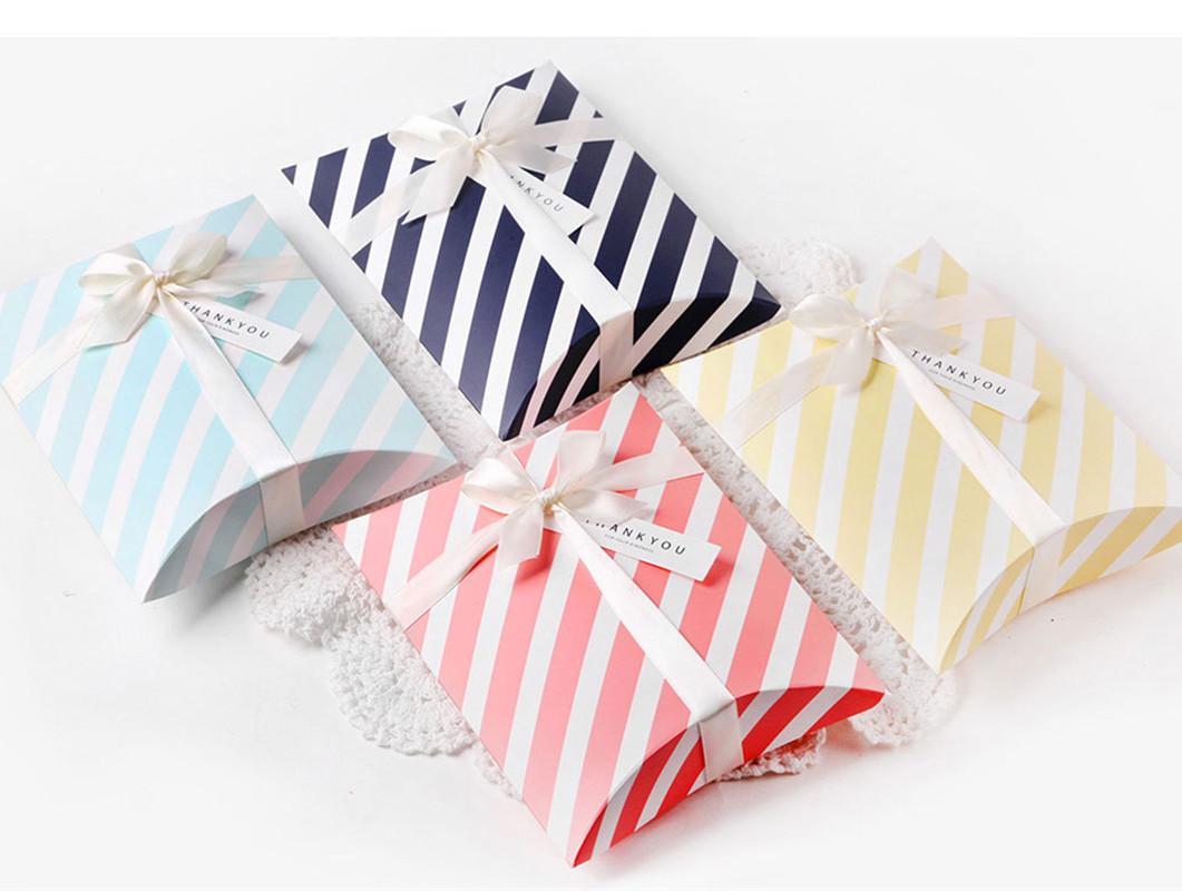 0.80元包邮韩国创意枕头喜糖丝巾丝带礼品盒