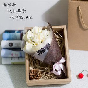 情人节教师节礼物玫瑰花肥香皂花束仿真花送女生老师浪漫创意礼盒