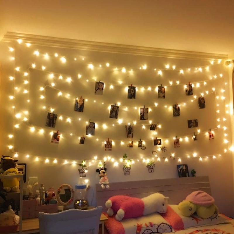 寝室房间装饰小彩灯闪灯串灯满天星浪漫宿舍直播led星星灯串灯泡