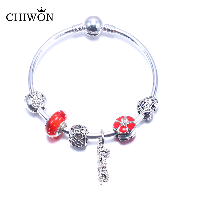 情侣同款公主之心镶嵌半宝石串珠手链全新时尚手镯